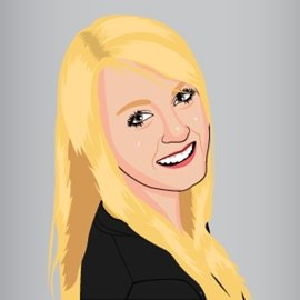 Cartoonized version of Kayla Amick